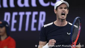 Australian Open Tennis - Andy Murray im Spiel gegen Roberto Bautista