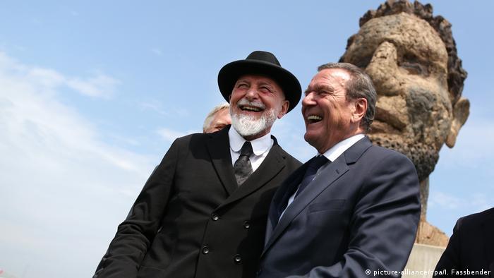Герхард Шредер и Маркус Люперц (2016 г.)