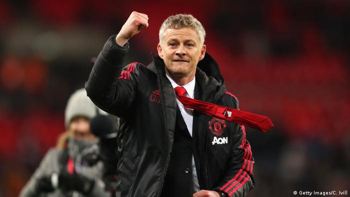 Manchester United-Trainer Ole Gunnar Solskjaer (Getty Images/C. Ivill)