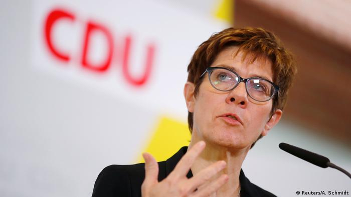 CDU party leader Annegret Kramp-Karrenbauer