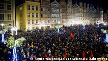 Public mourning in Gdansk