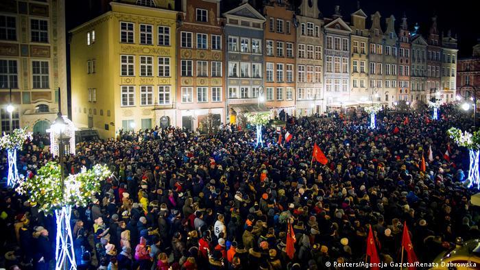 Polen Danzig Trauer und Gedenken nach Mord an Pawel Adamowicz, Bürgermeister