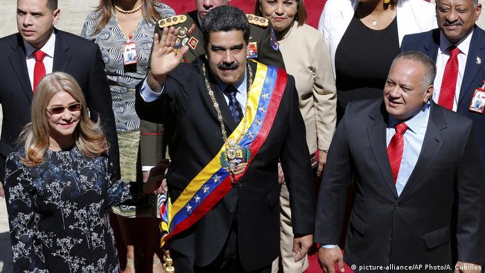 Venezuela Jahresansprache Präsident Nicolas Maduro im Parlament, Caracas