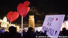 Polen, Krakau: Öffentliche Versammlung nach der Ermordung von Pawel Adamowicz