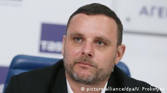 Мануэль Оксенрайтер во время одной из пресс-конференций в Москве