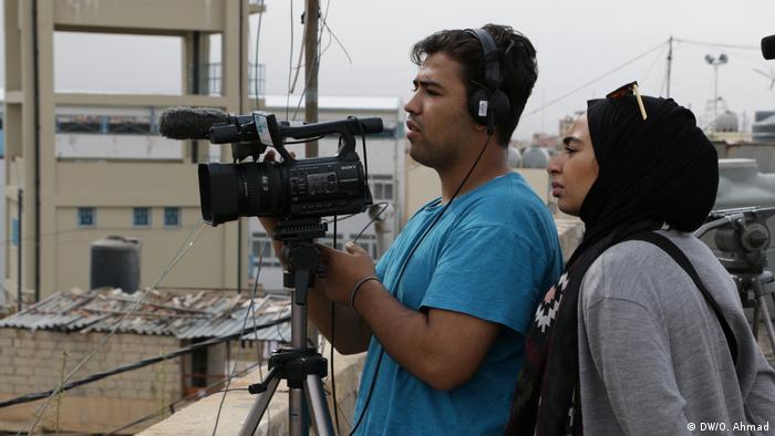 junges Reporterteam im Flüchtlingslager Shatila im Libanon