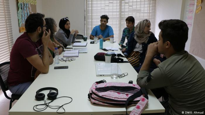 We come up with ideas and discuss them with our colleagues at the weekly editorial meetings. (DW/O. Ahmad)