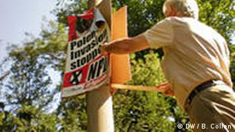 NPD Poland invasion posters being removed