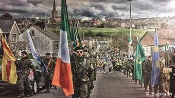 Η ιρλανδική ομάδα Saoradh σε εκδήλωση μνήμης για τη ματωμένη Κυριακή του 1972