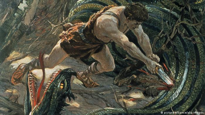 El joven Sigfrido, impresión en color de Max Koch.