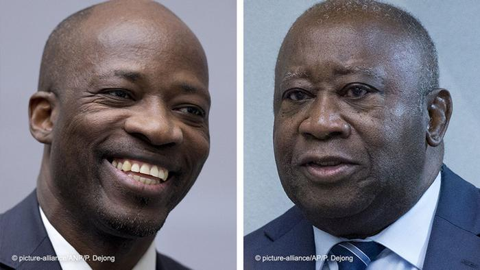 Charles Ble Goude (left) and Laurent Gbagbo