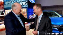 Ford-Chef Jim Hackett und VW-Chef Herbst Diess