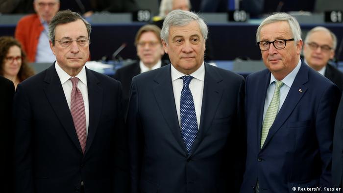 Draghi, Tajani i Juncker