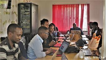 #speakup barometer Kenya newroom PulseLive (DW/L. Nitsche)