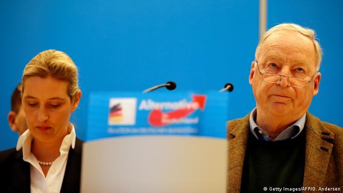 Berlin - Pressekonferenz: Alice Weidel und Alexander Gauland