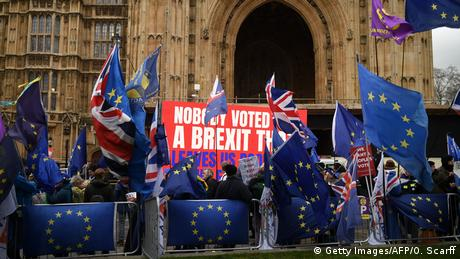 Großbritannien London - Anti-Brexit Proteste (Getty Images/AFP/O. Scarff)
