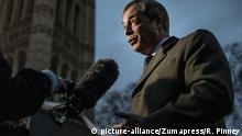 Großbritannien London - Nigel Farage: ehemaliger UKIP Parteiführer