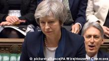 Großbritannien London - Theresa May zu Parlamentsabstimmung