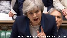 Großbritannien London - Theresa May zu Parlamentsabstimmung (picture-alliance/PA Wire/House of Commons)
