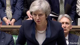 Großbritannien London - Theresa May zu Parlamentsabstimmung