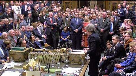 Prime Minister Theresa May addresses Parliament