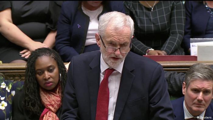 Großbritannien London - Jeremy Corbyn zu Parlamentsabstimmung