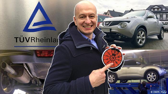 TÜV inspection sticker for license plate