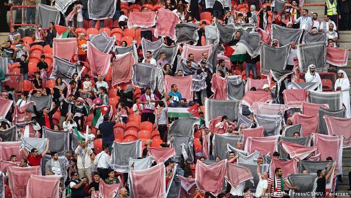 Asienmeisterschaft 2019 | Fans Palästina (picture-alliance/Zuma Press/CSM/U. Pedersen)