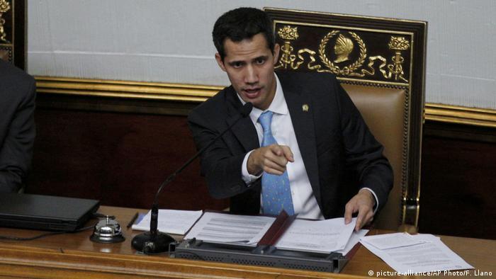 Venezuela Juan Guaido, Parlamentspräsident in Caracas