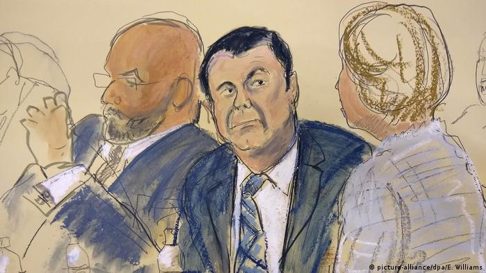 New York Prozess gegen Drogenboss Joaquin «El Chapo» Guzman (picture-alliance/dpa/E. Williams)