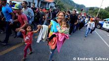 Guatemala Agua Caliente Grenzübergang Honduras Karawane Migranten