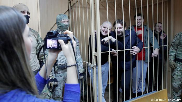 Украинские моряки в суде, Москва, 15 января 2019 года