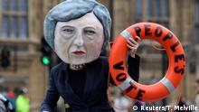 London Brexit Protest Rettungsring