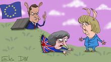 Karikatur Sergey Elkin - Brexit