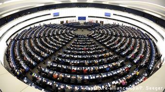Зал пленарных заседаний Европарламента