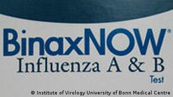 Deutschland Medizin Schnelltest neue Grippe