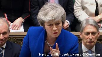 Премьер-министр Великобритании Тереза Мэй в британском парламенте