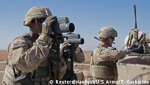 Syrien US Soldaten nahe Manbidsch