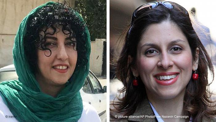 Bilkombo Narges Mohammadi und Nazanin Zaghari-Ratcliffe