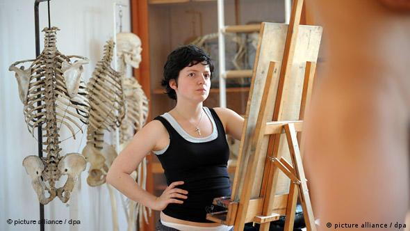 Deutschland Kunstakademie Flash-Galerie Aktmodell