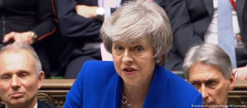 UK Misstrauensvotum - Theresa May (picture-alliance/dpa/House Of Commons)