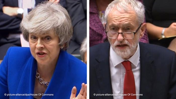 Kombobild May - Corbyn