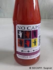 NoCap label on tomato sauce bottle