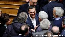 Griechenland Vertrauensabstimmung im Parlament in Athen
