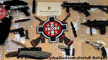 Weapons seized from a German KKK group (picture-alliance/dpa/Staatsanwaltschaft Stuttgart)