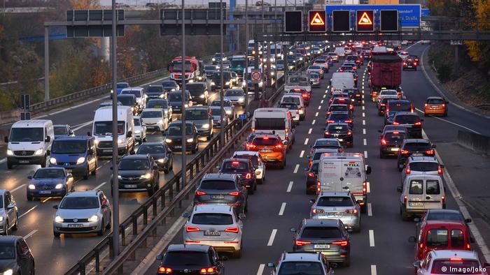 Deutschland Stau auf der Autobahn