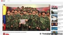 Screenshot Video Venezolanische Armee