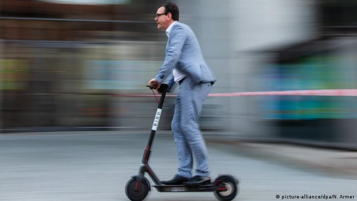 Man on an e-scooter