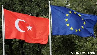 Σημαίες της Τουρκίας και της ΕΕ