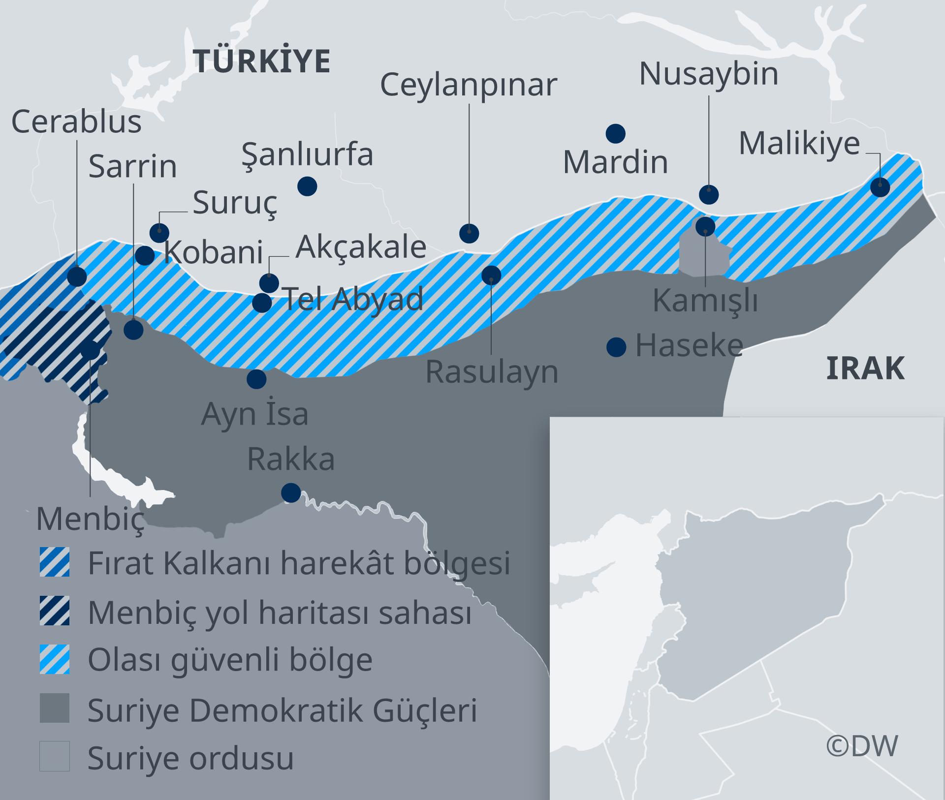 Infografik Karte Syrische Sicherheitszonen TR
